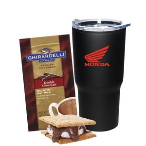 Peppermint Cocoa & Candy Cane Mug Set (Red)