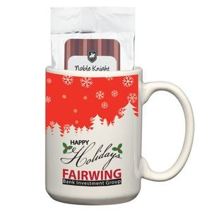15 Oz. Full Color Mug with Two Packs of Hot Cocoa