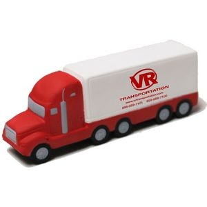 Red and White Semi-Truck Stress Reliever